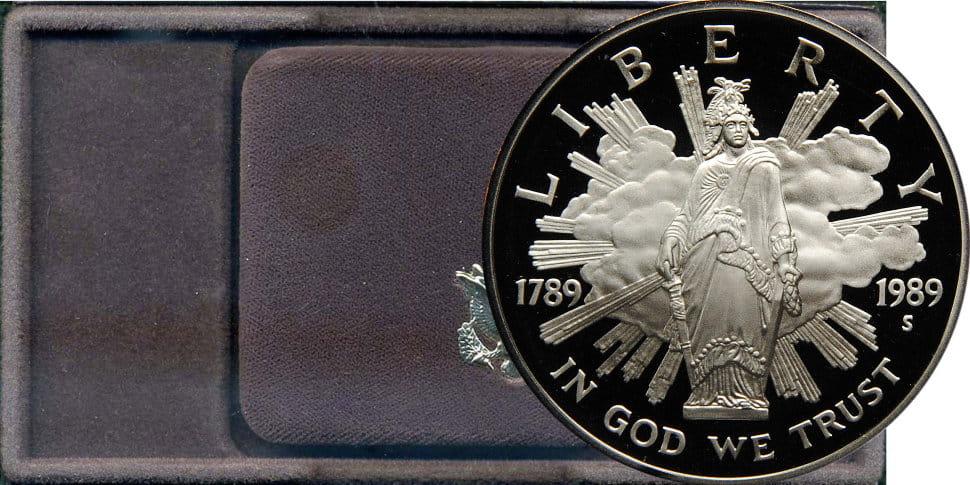 1 доллар сша 1989. конгресс сша, 1789-1989..
