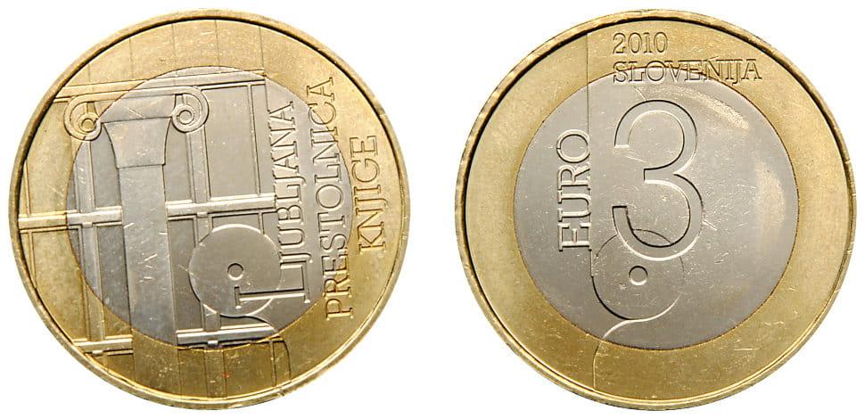 3 евро словения монета 1741 иоанн 3