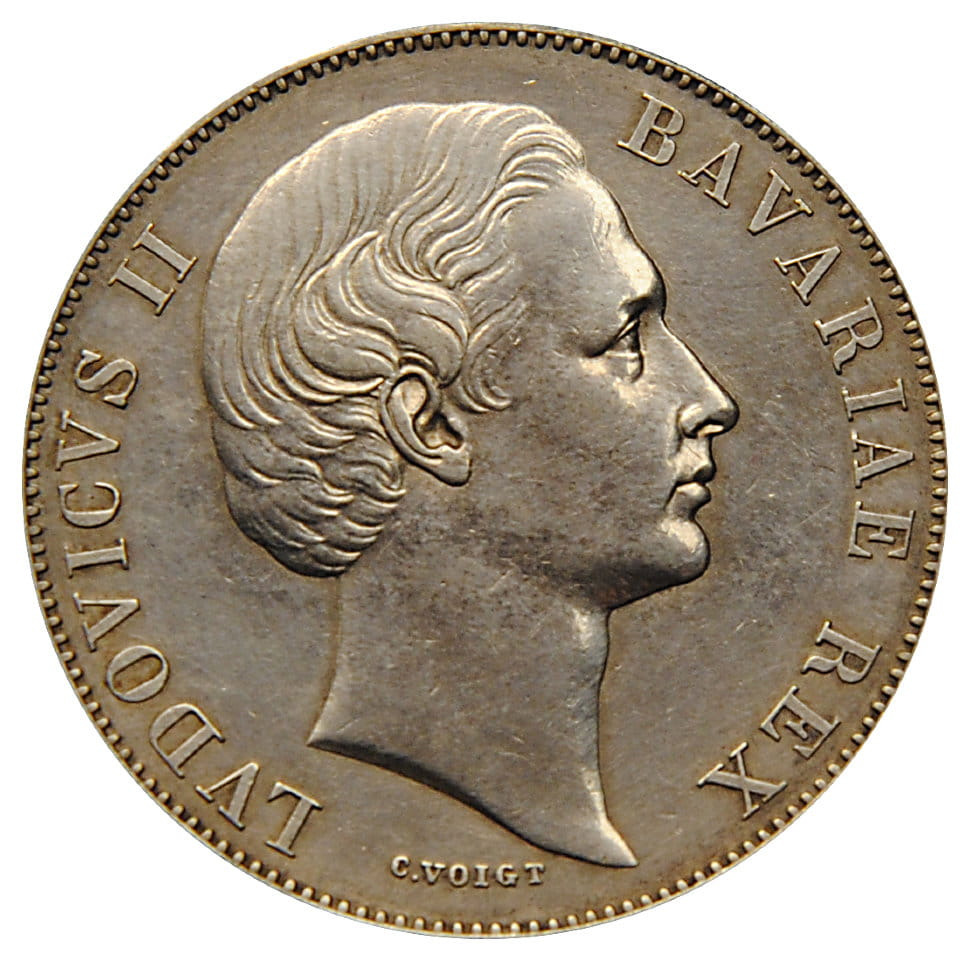 Талер ГЕРМАНИЯ 1866 Бавария. Патрона Бавария. (1354)